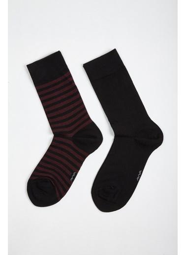 Avva Erkek  Desenli Soket Çorap A02Y8509 Siyah